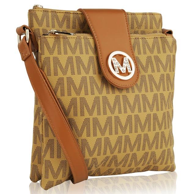MKF Collection Wrigley M Signature Cross Body  by Mia K.