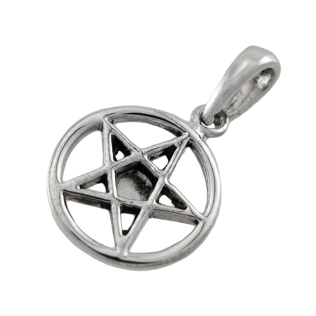 Sterling Silver Pentacle Charm / Pendant With Pendants