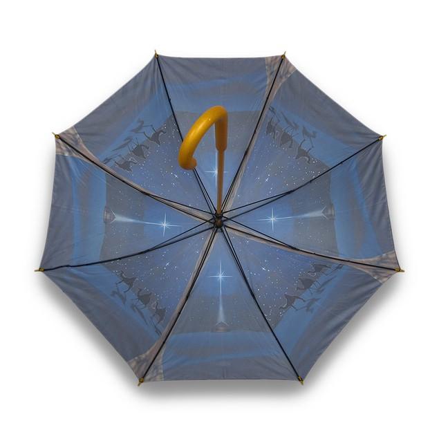 O Holy Night Nativity Print Bamboo Stick Umbrella Umbrellas