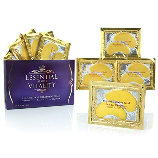 24k Gold Eye Mask - with Collagen (20 Pairs)