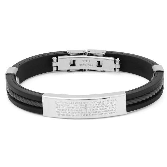 Stainless Steel Prayer Bracelet