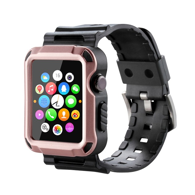 Waloo Tough Armor Apple Watch Strap and Case Series 1, 2, 3, 4, & 5