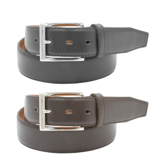 2-Pack Men's Black & Brown Leather Belts