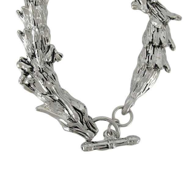Chrome Plated Dragon Link Toggle Clasp Bracelet Mens Chain Bracelets