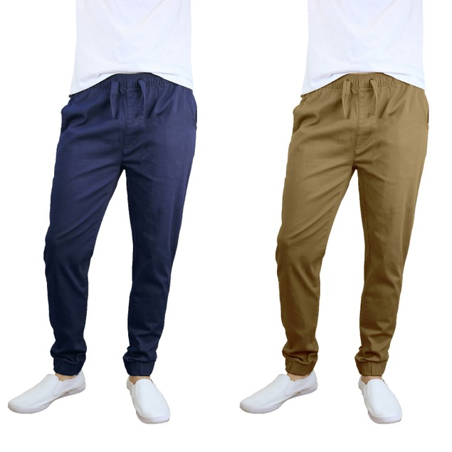Men's Cotton Stretch Twill Joggers