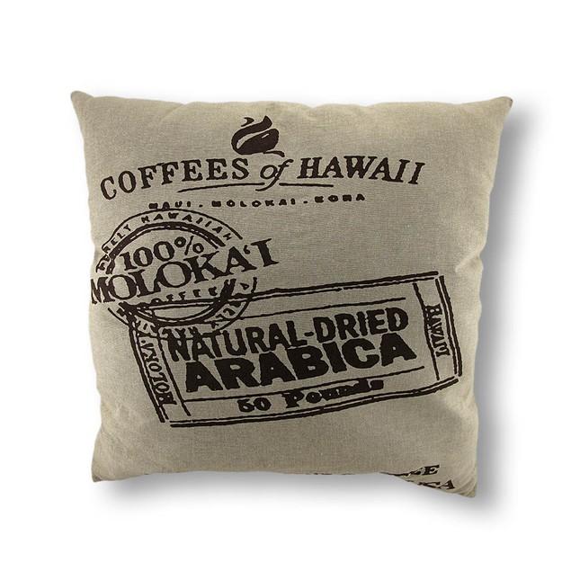 Coffee Of Hawaii Linen Decorative Throw Pillow Throw Pillows