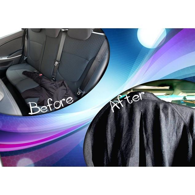 Zone Tech Car Stainless Steel Seat Headrest Hanger Wooden Grain Finish