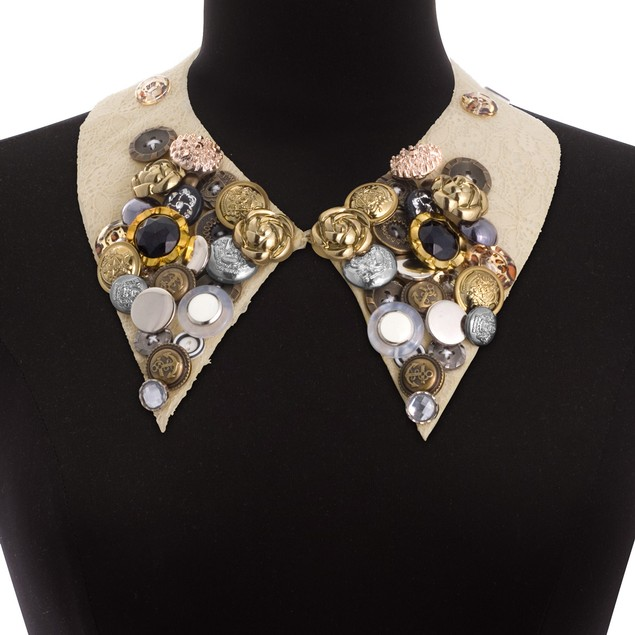 Boho Collar Button Necklace