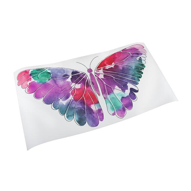 Watercolor Butterfly Die Cut Peel & Stick Vinyl Wall Decor Stickers