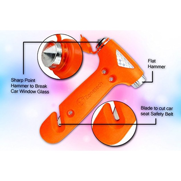 2-Pack Zone Tech Car Window Seatbelt Safety Emergency Hammer Cutter Tool