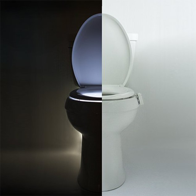 Motion Activated 16-Color LED Toilet Nightlight