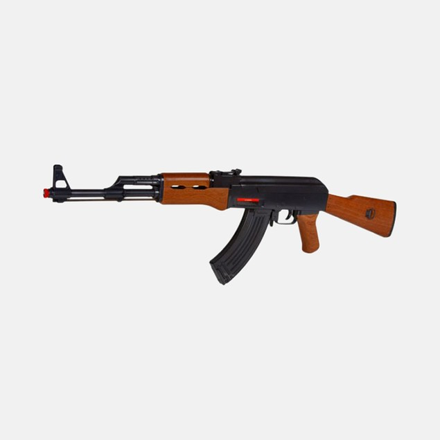 Spring AK-47 Airsoft Rifle With BB Shell Casings
