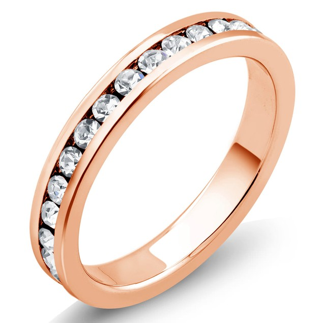 18kt Gold Plated Eternity Band Ring