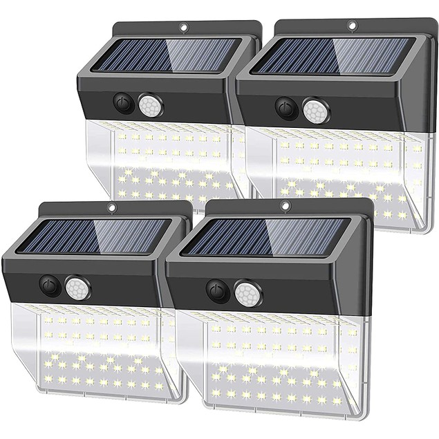 4-Pack Hakol 136 LED Outdoor Waterproof Motion Sensor Garden Lights