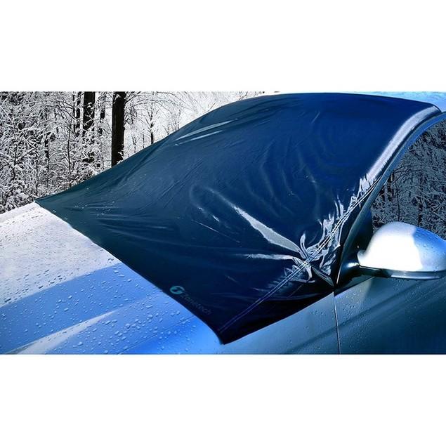 Winter Zone Tech Bundle: Snow Windshield Cover + Heated Car Seat Cushion