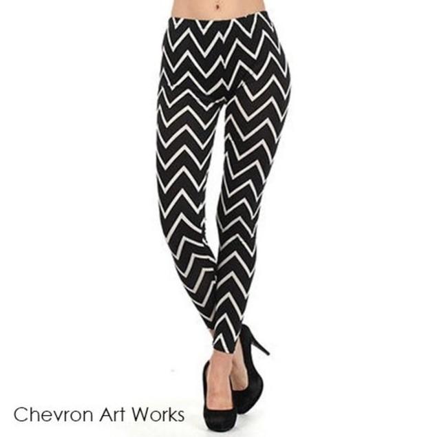 Chevron Art Works Leggings