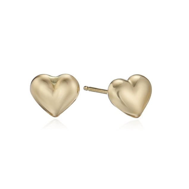 2-Pack: Heart Stud Earrings, 2 Styles