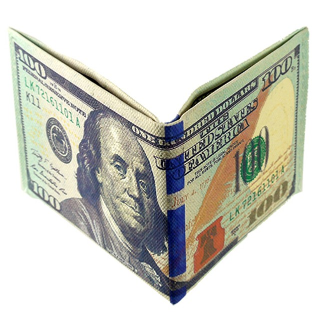 100 Dollar Bill Billfolds Wallets