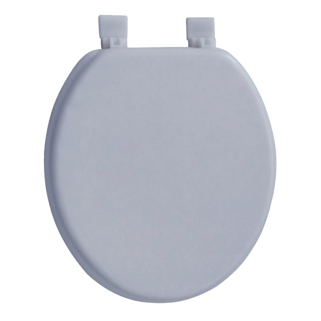 Soft Round Toilet Seat With Easy Clean & Change Hinge, Padded