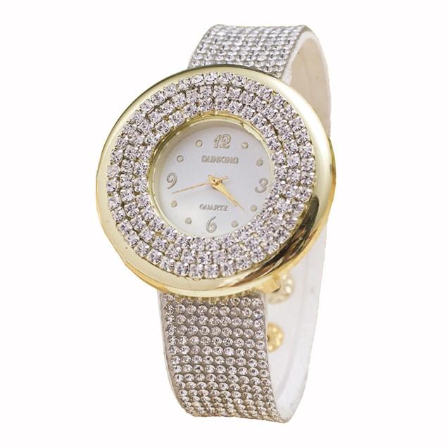 Rhinestone Fashion Watch - 2 Colors