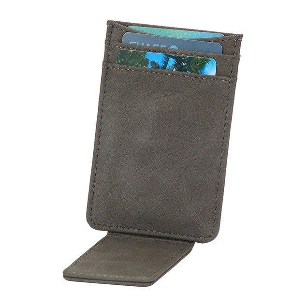 The Striker RFID Blocking 100% Leather Card Holder & Magnetic Money Clip
