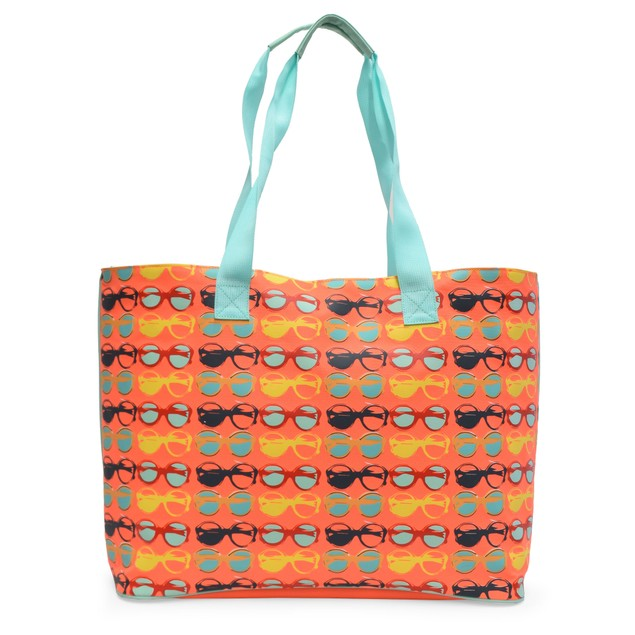 Life is Just a Beach Large or Jumbo Beach Tote Bag with Zipper - 4 Styles