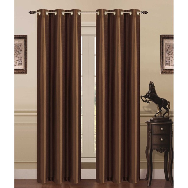 2-Pack Elegant 38x84 Blackout Curtains with Foam Backing