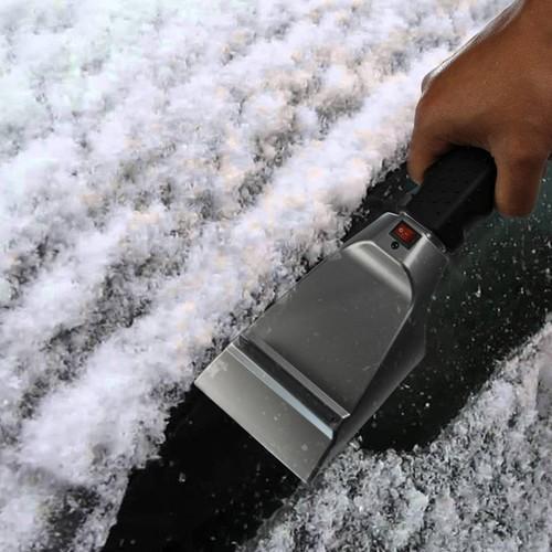Electric Ice Scraper 12V Heated Ice Scraper Snow Melter with Anti Scratch Rubber Guard
