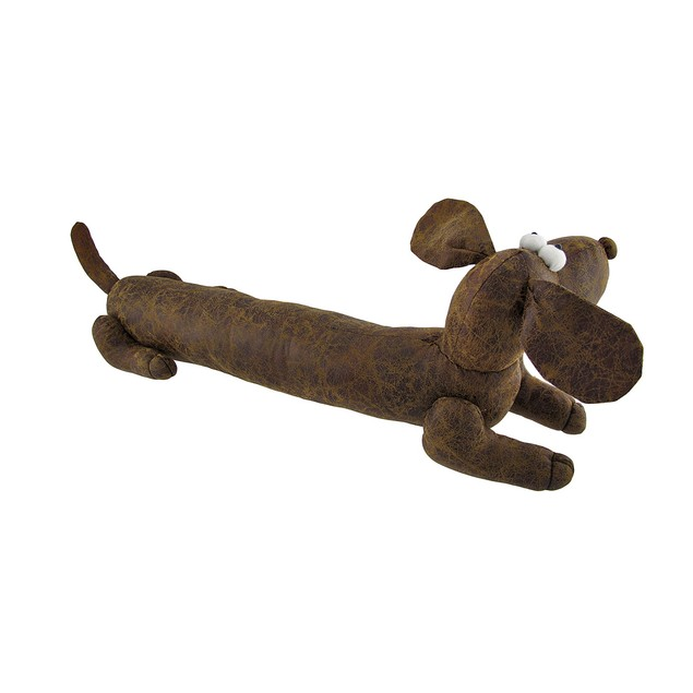 Adorable Stuffed Dachshund Dog Faux Leather Bean Door Stops