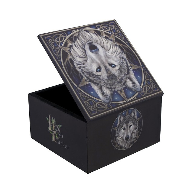 Lisa Parker `The Wild One` Celtic Wolf Trinket Box Decorative Boxes