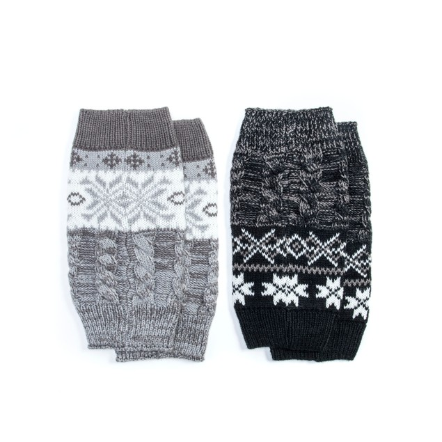 MUK LUKS ® Women's 2 Pair Pack Reversible Snowflake Boot Toppers