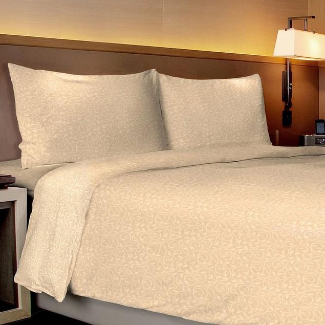 Vine-Embossed Sheet & Pillowcase Set (4-Piece or 6-Piece)