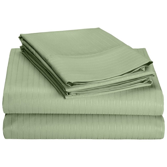 4-Piece Set: Hotel New York 1600 Series Pinstripe Embossed Sheets