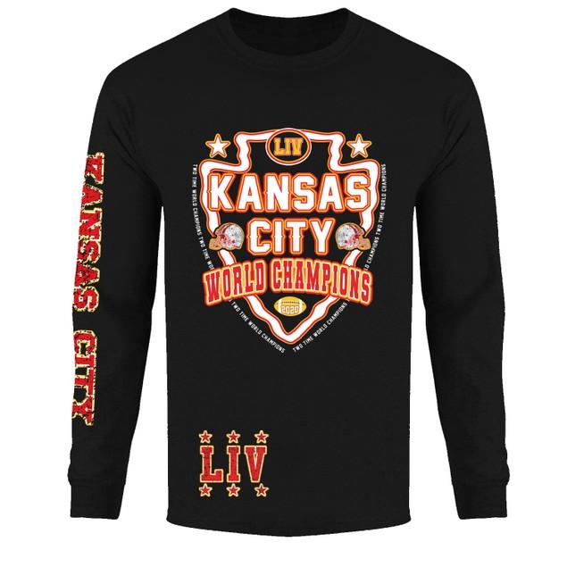 Men's Awesome KC Football Champions Long Sleeve Shirts
