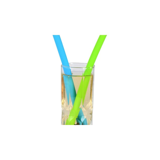 Waloo Reusable Silicone Drinking Straws w/ Cleaning Brush