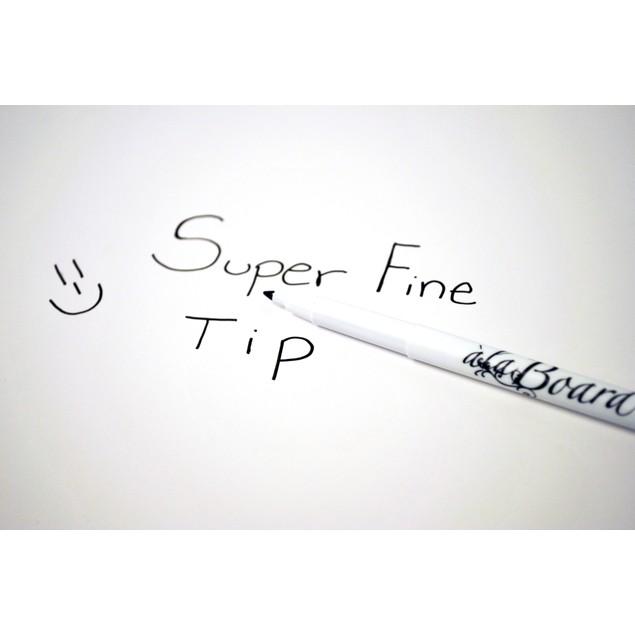 Black Super Fine Tip Dry Erase Marker - Set of 5