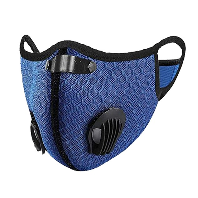 Reusable Running Cycling Breathable Outdoor Face Mask With Valve & Filter