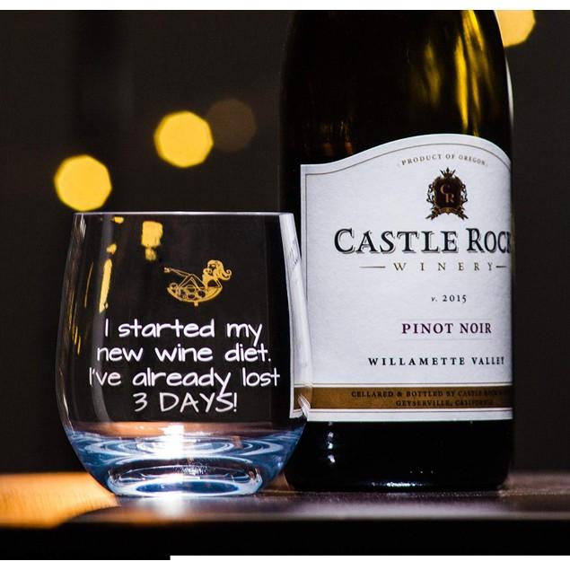 2-Pack Novelty Fun Wine Unbreakable Tritan Glass Set