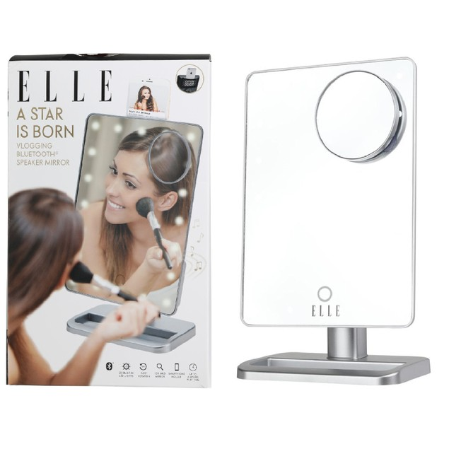 ELLE A Star is Born LED Light-up Bluetooth Speaker Vlogging Mirror