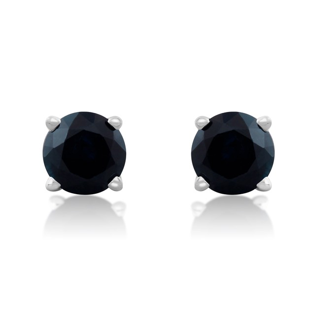 1/2 Carat Sapphire Stud Earrings in 14k White Gold