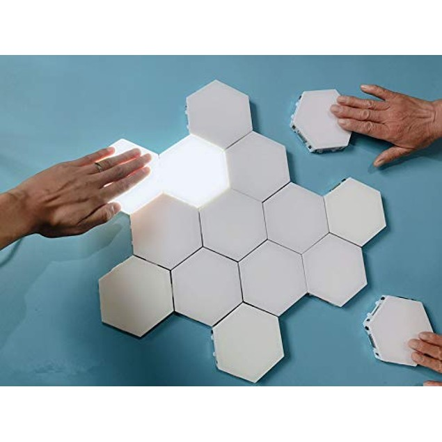 5-Pack Hexagonal Touch Sensitive LED Honeycomb Wall Night Lights