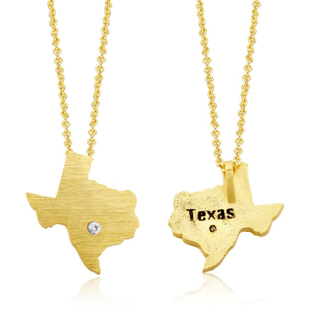 Gold Plated State Love Necklaces
