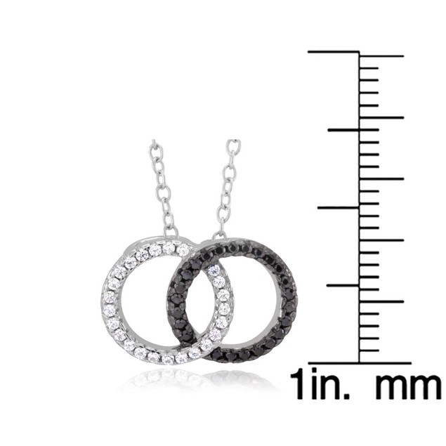 Sterling Silver Interlocking Circle Cubic Zirocnia Necklace