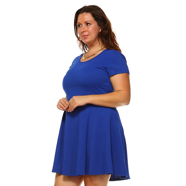 Women's Fun & Flirty Plus Size Cara Dress - 6 Colors
