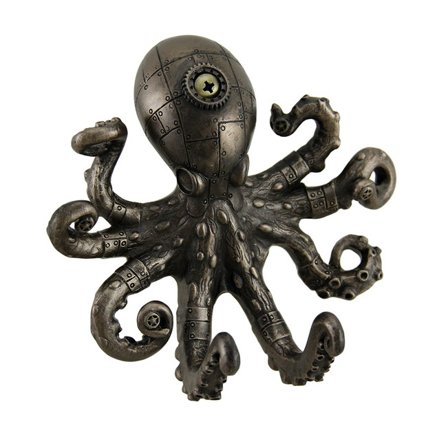 Antique Bronze Finish Steampunk Octopus Wall Hook Decorative Wall Hooks