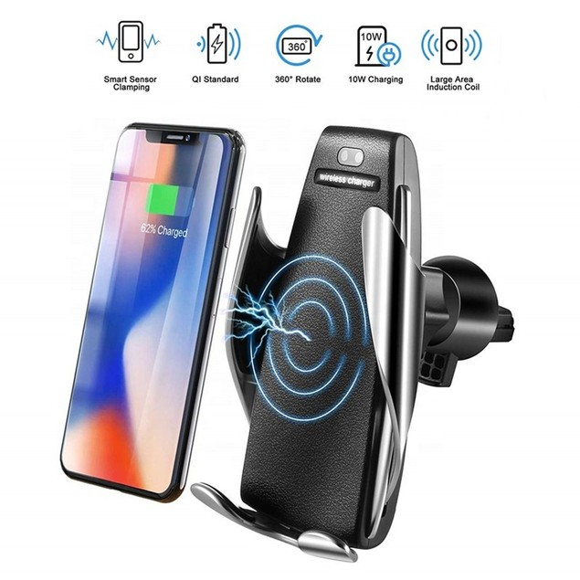 Smart Sensor Car Wireless Charger Stands, 10W Fast Charging Holders