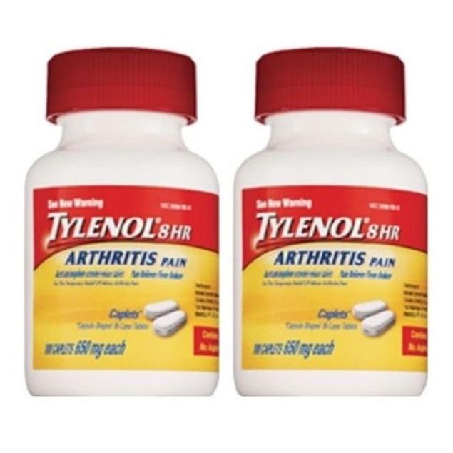 Tylenol 8 Hour Arthritis Pain 2 Bottle Pack 100 Caplets Each Bottle