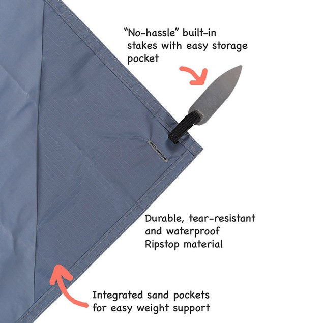 "Outdoor and Travel ""On-The-Go"" Pocket Blanket"