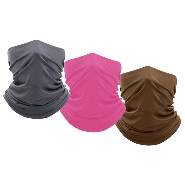 3-Pack Breathable Stretch Face Mask Neck Gaiter Scarf Bandana