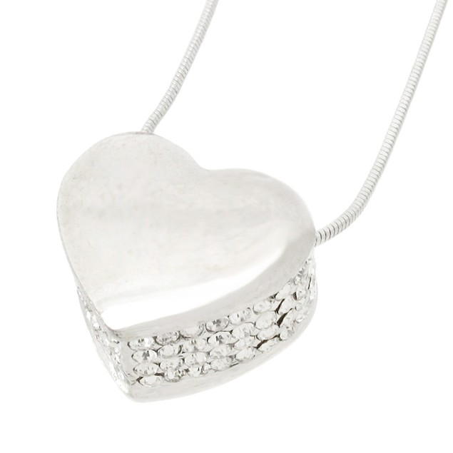 Rhinestone Encrusted Heart Necklace / Pendant Womens Pendant Necklaces